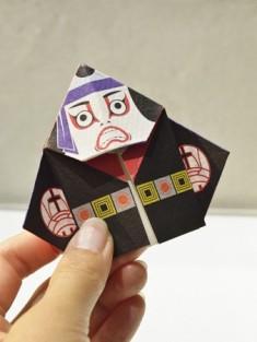 Kabuki Origami Postcard – Re: kimono style