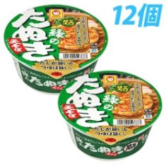Maru-Chan Green Raccoon Dog Heaven Buckwheat (Kansai)101g × 12 cup[DS] – Discovery Japan M ...