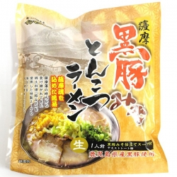 Satsuma black pig Miso Tonkotsu Ramen (Pork bone ramen) raw Chinese noodles [japankyusyu] – ...